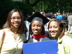 3/4 of The WHOLE celebrating Rev. C's graduation from Emory University